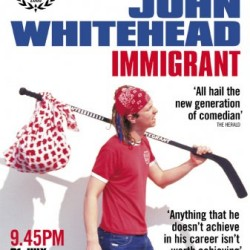 My first full length show at The Edinburgh Festival. Yep that's a hockey stick with the word 'Immigrant' written on it. My mom even sewed the hobo bag for me
